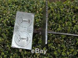 Hostie Mold Wrought Iron XVIII Folk Art Christ Cross Waffle Iron Old Tool