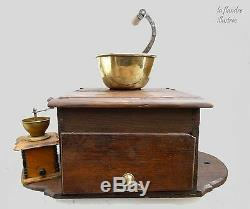 Huge Coffee Grinder To Ear Side Crank Convent Of 19th