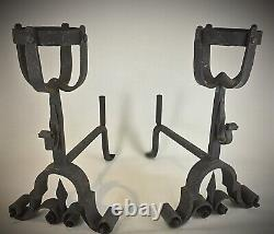 Important (20kg) Ancient Cattle, Forged Iron Landers 19th Medieval Style