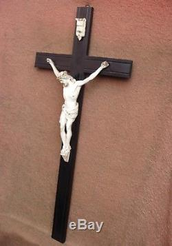 Important And Rare Crucifix Of The Late Nineteenth Century 91 CM