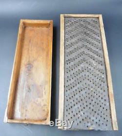 Important Rape Tobacco Table Popular Art Haute Savoie Wood And Iron