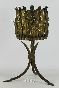 Iron Forged Flower. Golden. Leaf Model. 50/60 Years