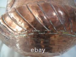 Italy 17th Great Basin Copper Stamped With Rare Hammer
