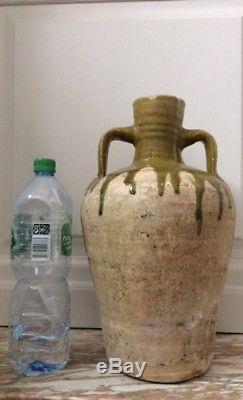 Jar Old Glazed Earthenware 18th Century, Water Jug, Jug