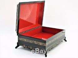 Jewelry Box Collection 25x17 Miniature Lacquered Palekh Hand Painted Signed