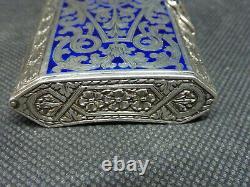 L Kuppenheim Tabatière Silver Massive Enamel Enamel Snuff Box Silver Schnupftabak