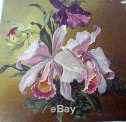 Lacquer Box Decorated With Beautiful Orchids 21240