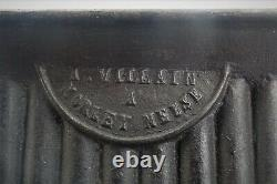 Large Cast Iron Candle Mould 19th Signed Villain With Meuse Morlet