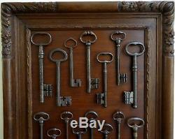 Large Painting Of 15 Key-keys Gothic Sixteenth Seventeenth Eighteenth Nineteenth Wrought Iron
