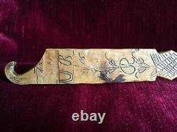 Large Spoon Of Carved Fruit Wood Art Populaire 19th