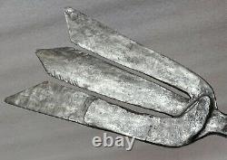 Large Wrought Iron Eel Foene Around 1800