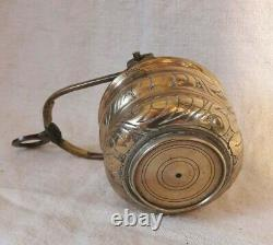 Little Bucket To Blessed Water/dinanderie/bronze Gravé/flanders/high Era/16th/17th