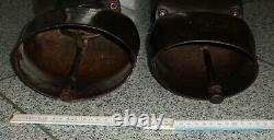 Lot Of 2 Cowbells Devouassoud Chamonix No.8 And 6 With Leather Collar
