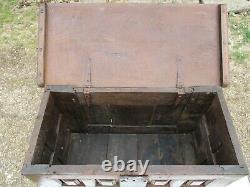 Louis XIII Oak Wood Box Cabinet