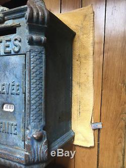 Mailbox Old Ptt Dite Mougeotte Manufacture Delachanal