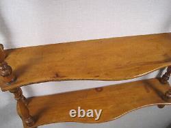 Napoleon III Wall Shelf Made Of Bamboo-style Blond Wood Asia 3 Trays XIX