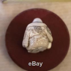 Netsuke Origin China Ancient Material Good Condition Sign