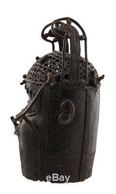 Oba-bronze Commemorative Head Benin-nigeria-bini Edo-1221