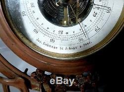Old Barometer Thermometer Jugendstil Art New 1920 (52 Cm)