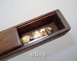 Old Box Razor Cutter Cabbage Razor Folk Art