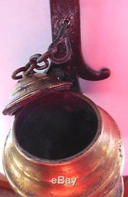Old Bronze Oil Lamp, Late 17th Century