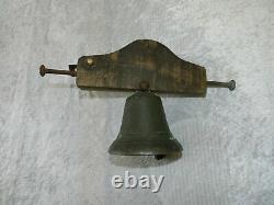 Old Bronze Property Bell With Gallows