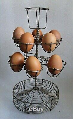 Old Door Eggs In Wire Restaurant Bar Counter