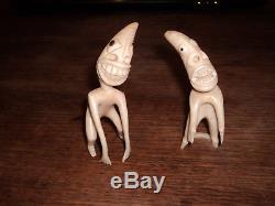 Old Eskimo Yupik Inuit Greenland Tupilak Carving Figurine