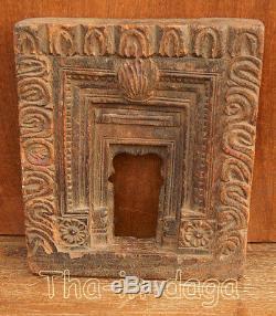 Old Frame Moucharabieh Teck Sculpte 880g 19x22x4cm India