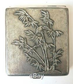 Old Holster Crafted Sterling Silver Butterfly Silver Cigarette Box Cigaret