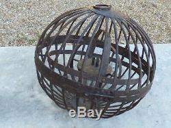 Old Lantern Lamp Oil Marine Armillaire Sphere 33cm. 19th Century