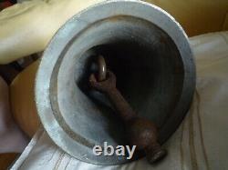 Old Large Bronze Chapel Or School Bell Diameter 21 CM