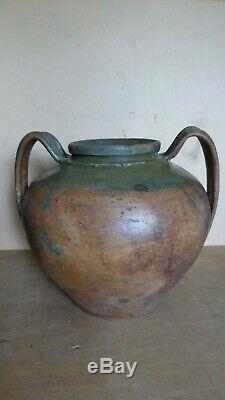 Old Pottery Clay Big Pot A 2 Anses Castandet Landes Popular Art