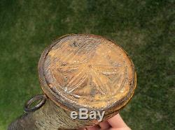 Old Powder Powder Popular Art High Era / Antique Flask Powder