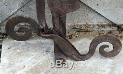 Old Rack Wrought Iron Fireplace Tool Old Folk Art