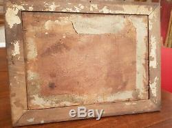 Old Religious Fixed Under Glass S Xviii, XIX S, Fixed Glass Painting
