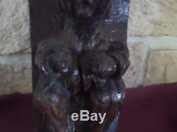 Old Sculpture Wood Monoxyle Gargouille Art Popular