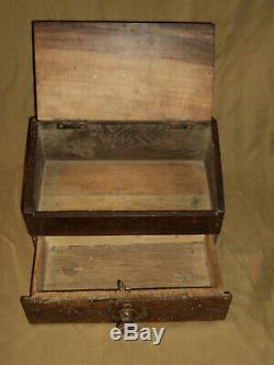 Old Set Of Lace-maker Or Shepherd In Wood Popular Art XIX