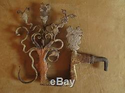 Old Sicilian Cart Wrought Iron Decoration Painted Folk Art XVIII Th