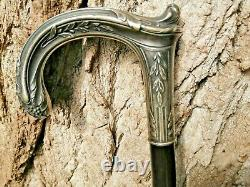 Old Silver Apple Cane 19 Th