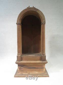 Old Small Niche For Sculpture Virgin Olive Folk Art Time XIX