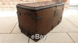 Old Small Wooden Chest 17th. 25 X 56 X 29. Ancient Small Wooden Chest