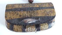 Old Tabako-ire Kiseru Jutsu Tabacology Kizami Fish Japan Meiji 19th