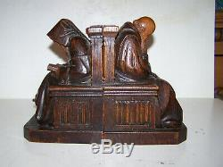 Old Wooden Greenhouse Book Sculpé Religious XIX Th