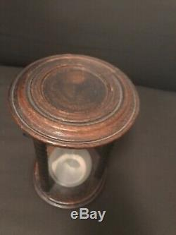 Old Wooden Hourglass Nineteenth