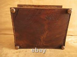 Old Wooden Jewelry Box Sculpted Monoxyl, Late XIX Ème Beginning XX Ème