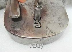 Old Wrought Iron Padlock Hasp And Then Key 18-19th