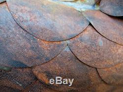 Old Zinc Copper Rooster Weather Vane Church Steeple Ears Popular Art Ridge