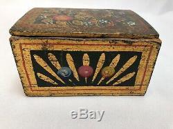 Painted Box 18 Eme Popular Art Decor A D Bird Illumination Dore C2039