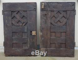 Pair Of Carved Wood Panels 16-17th / Doors Haute-era / Carved Wood